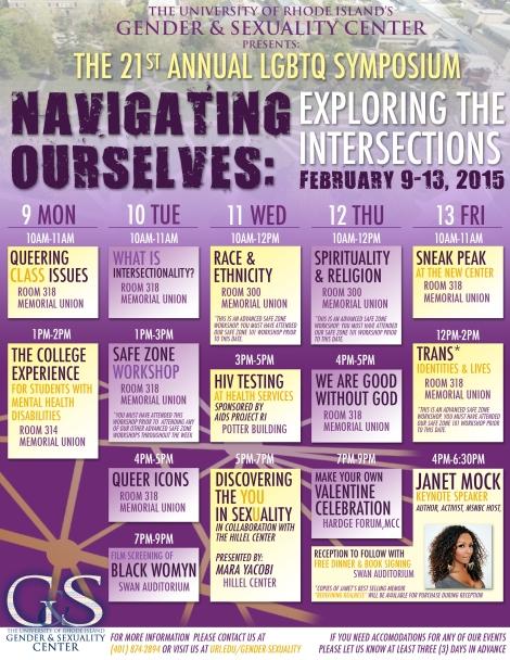 Symposium Schedule 2015