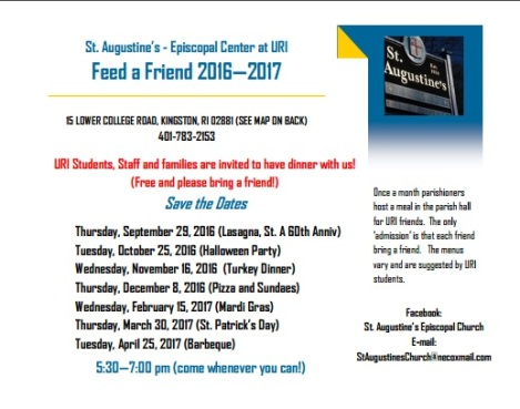 Feed A Friend 2016-17